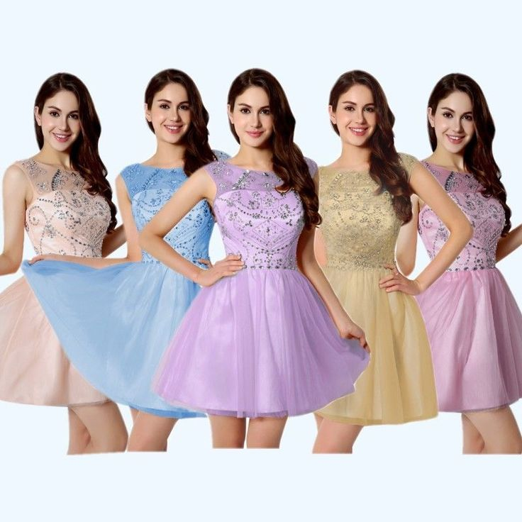 Sweet 16 Short Homecoming Dresses Beaded Formal Evening Cocktail Party Prom Gown #Sarahbridal #Formal