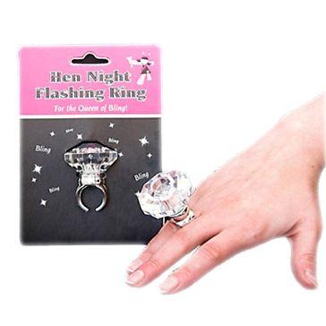 Blinkender Ring für den Ehrengast beim Junggesellinnenabschied - weddix.de