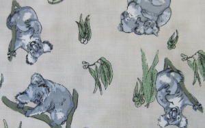 Koala Bears Cotton Print