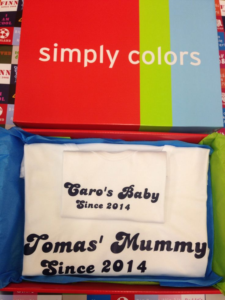 Matching Mum and Son Gift Boxed T Shirt set - personalised clothes from simplycolors.co.uk