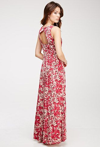 Abstract Floral Print Maxi Dress | Love21 - 2000082959