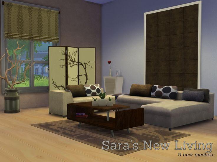 Angela 39 S Sara 39 S New Livingroom Sims 4 Living Room Sets Pinterest Sims