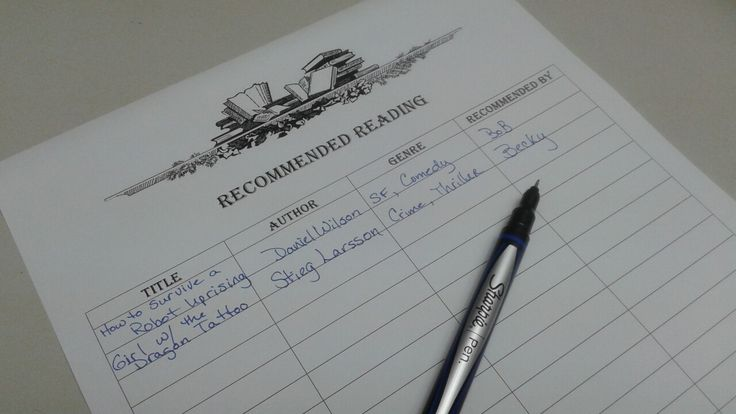 Free printable recommended reading log, just sign up for my newsletter at www.reneecharles.net