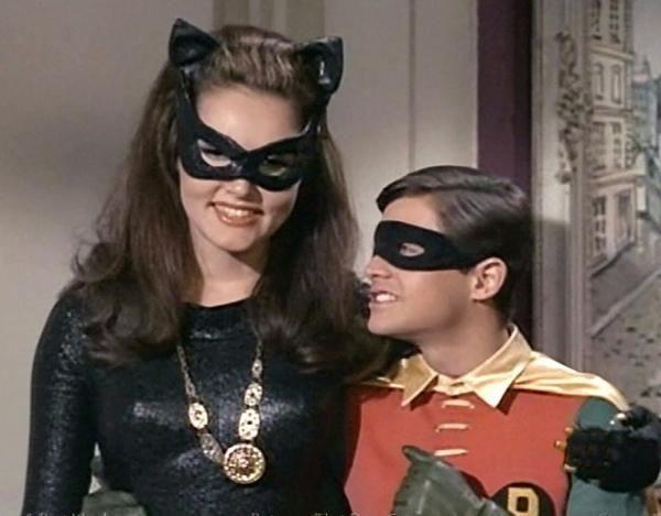 Julie Newmar - the original Catwoman and robin burt ward