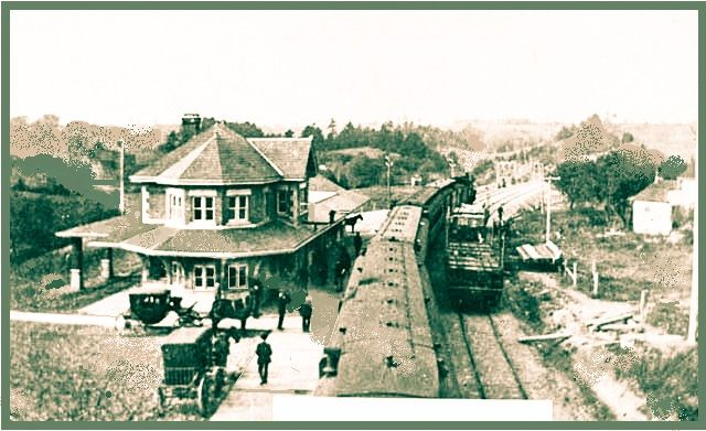 BRIGHTON, Ontario - Port Hope Railway station - vintage photo_edited