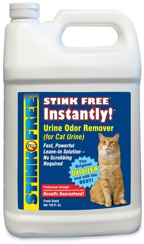 $44.95 STINK FREE Instantly Urine Odor Remover for Cat Urine, 128 Oz (1 Gallon) - STINK FREE Instantly Urine Odor Remover for Cat Urine has an aggressive, fast-acting formula that removes cat urine odor and ALL urine odor, including the urine odor that only cats can smell. It gets rid of the urine odor and its source through the process of Oxidation which breaks down and changes chemical compound ...