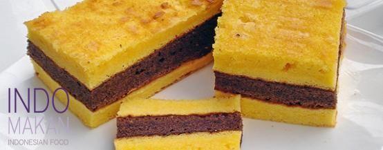 Lapis Surabaya - Cake in three layers with strawberry jam
