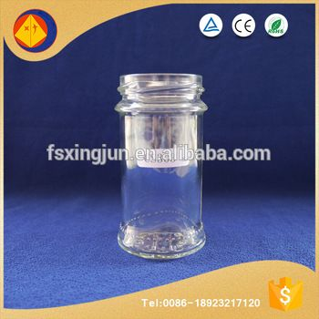 China gold supplier customized wide mouth round empty glass bottle manufacturer wholesale seasoning bottle