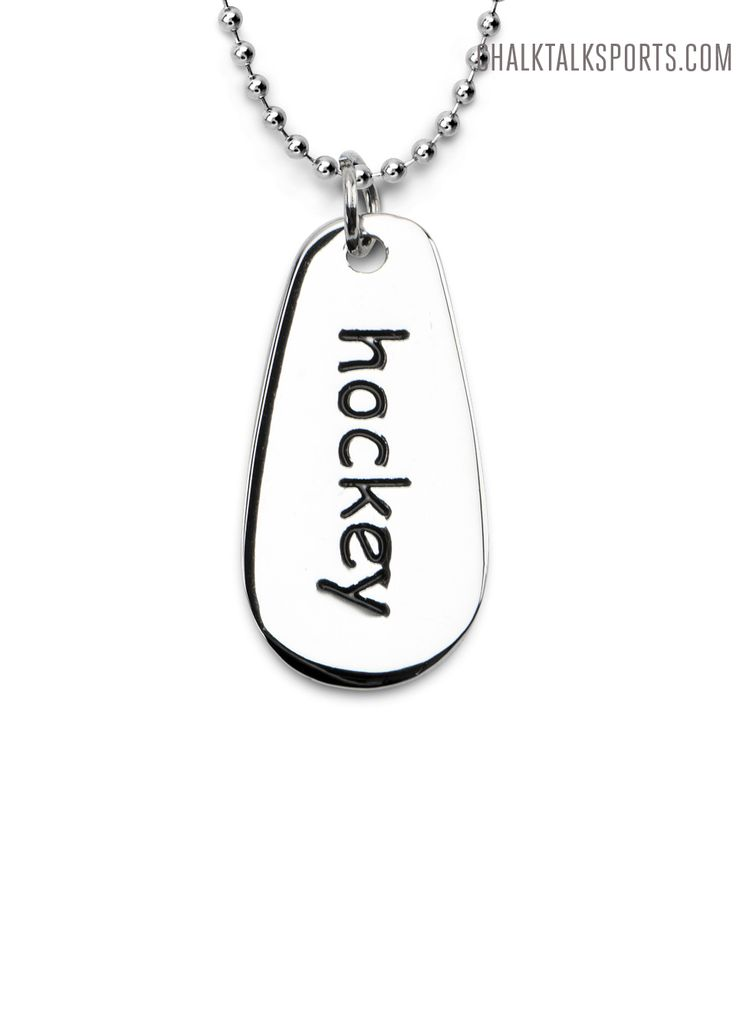 Fine Jewelry Personalized Name & Number Hockey Pendant Necklace kSipx4TH4