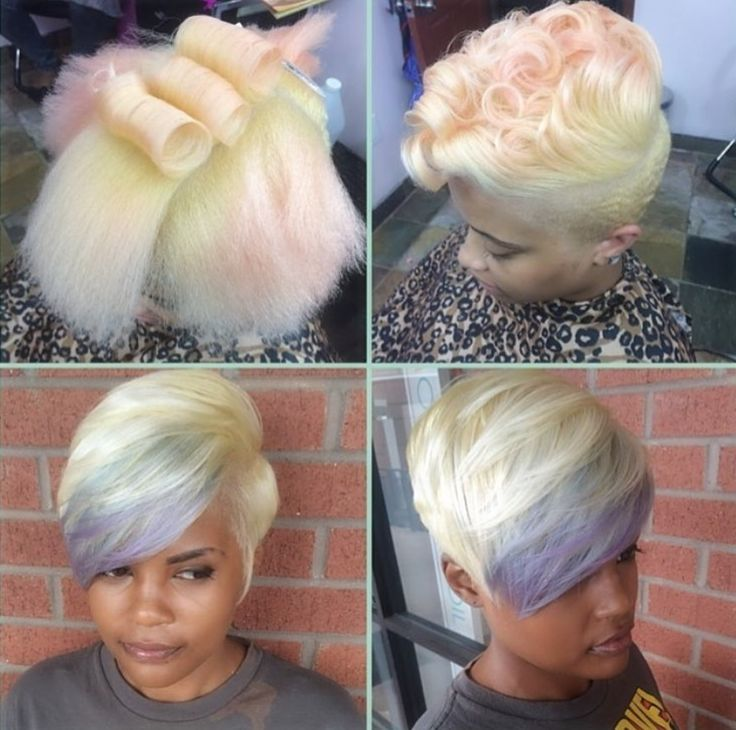 Drastic blondes via @hairbylatise - http://community.blackhairinformation.com/hairstyle-gallery/short-haircuts/drastic-blondes-via-hairbylatise/