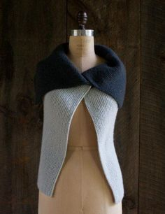 knitting - Sideways Garter Vest | Purl Soho - love the simplicity of this