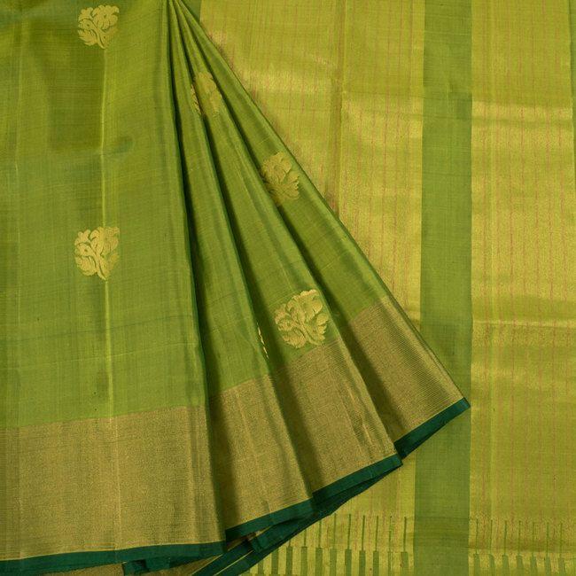 Handwoven Uppada Silk Saree With Neelambari Butta & Tissue Zari Border 10023139 - AVISHYA.COM