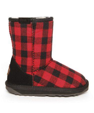 Look what I found on #zulily! Black & Red Lumberjack Boot - Toddler & Kids by EMU Australia #zulilyfinds