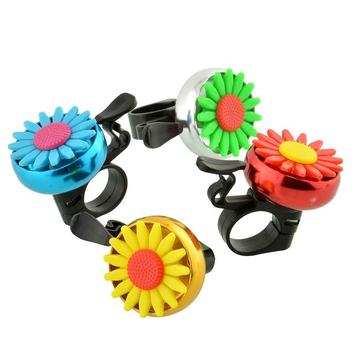 Cuty Flower Beautiful Bike Bicycle Cycling Handlebar Ring Horn Sound Bell Alarm Metal Multicolor Safety Bicycle Accessories