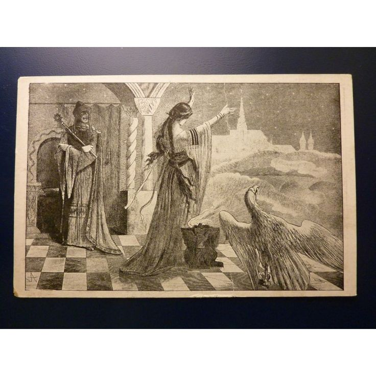 Mikoláš Aleš - pohlednice Venušina věštba, Přísaha lidu československého 1918