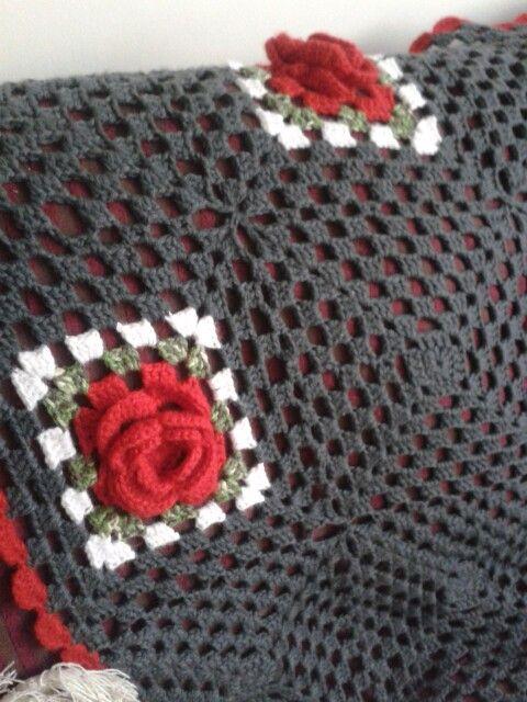 Detalle rosa a crochet