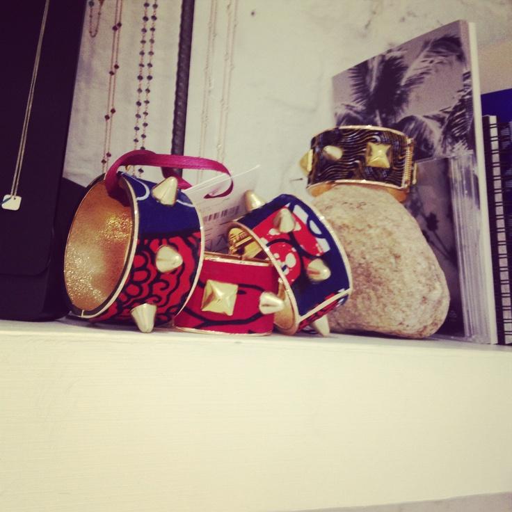 """Stella Jean bracelets """"hidding"""" inside our store! #Stellajean #bracelets #dolcitrame"""