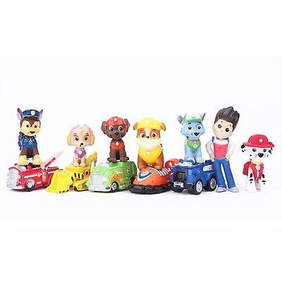 12pcs Fun Cute Paw Patrol Cake Toppers Action Figures Doll Kids Children Toy Set