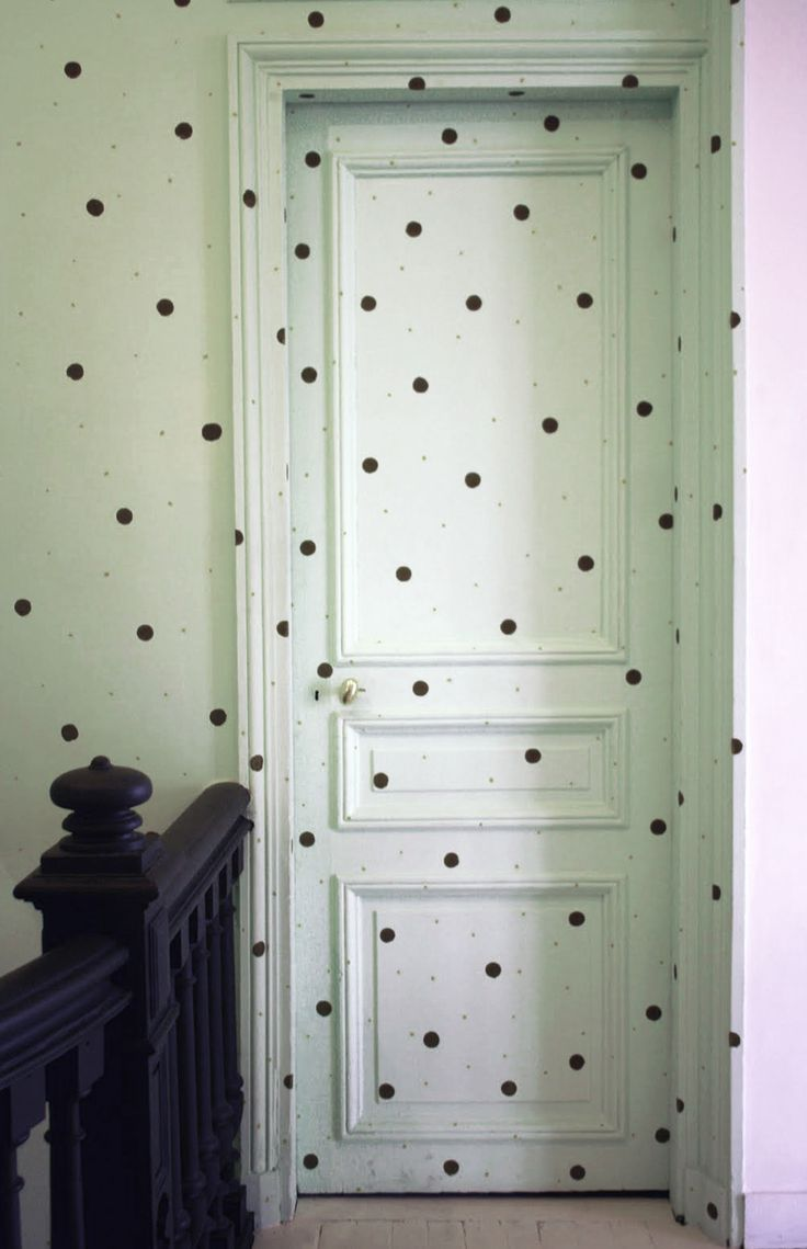 Polka dot bathroom decor - Diane Keaton Has An Awesome Pinterest Board Polka Dot Wallspolka Dotsbathroom