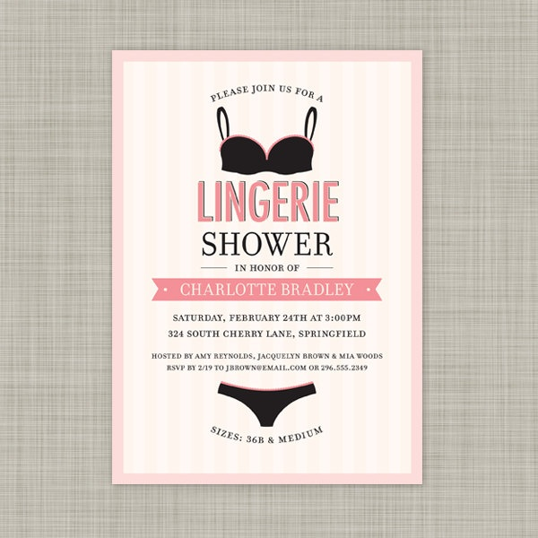 28 best images about Digibuddha Lingerie Shower Invitations on – Lingerie Party Invite