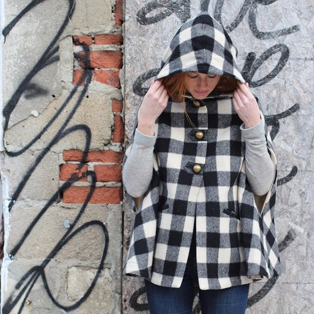 Channeling our inner Little Red Riding Hood-2017 live action remake of course. #tuckshopco #dreamycape #woolrich #woolrichcape #madeintoronto #madeincanadamatters #localbyleeftail