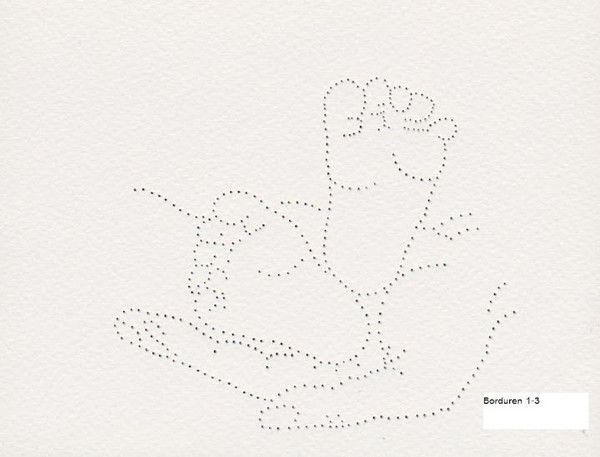 Hand Holding Baby Feet Tin Punch Pattern