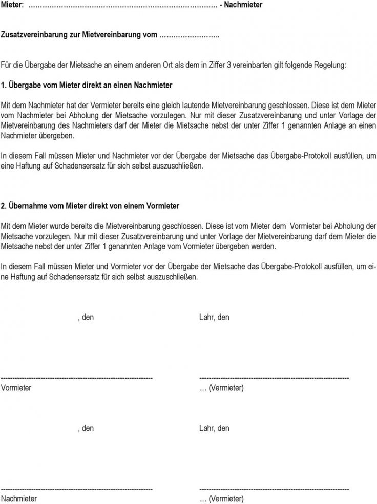 Blattern Unsere Das Beispiel Von Vereinbarung Vormieter Nachmieter In 2020 Nachmieter Vereinbarung Juristisch