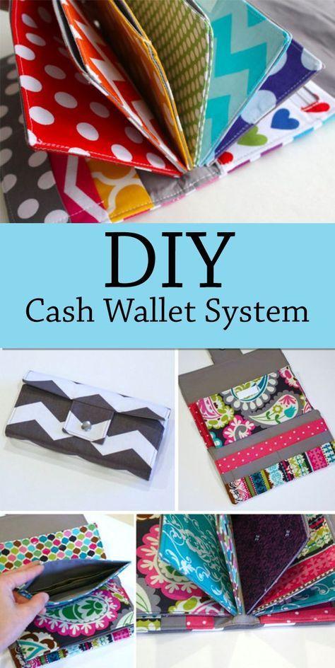 DIY sewing sewn cash envelope system wallet, perfe…