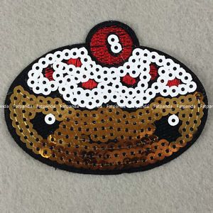 sequins-Ice-cream-panda-cake-Motif-Applique-Patch-iron-sew-on-Cloth-bag-badge-jy