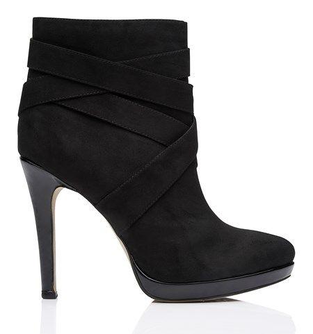 SE1412-Kerry Ankle Boot/Black - Ayakkabı - ForeverNew