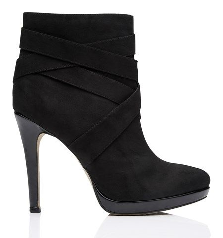 SE1412-Kerry Ankle Boot/Black - Ayakkabı - ForeverNew