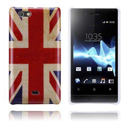 Flag (Ison-Britannian lippu) Sony Xperia Miro Suojakuori