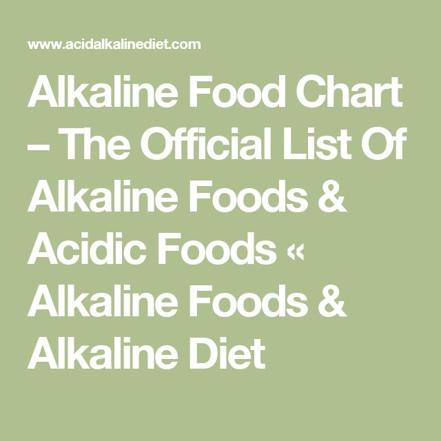 Alkaline Food Chart – The Official List Of Alkaline Foods & Acidic Foods « Alkaline Foods & Alkaline Diet