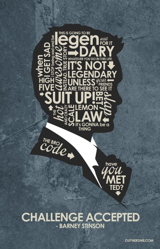 How I Met Your Mother (2005–2014) ~ TV Series Quotes Poster by Stephen Poon #amusementphile