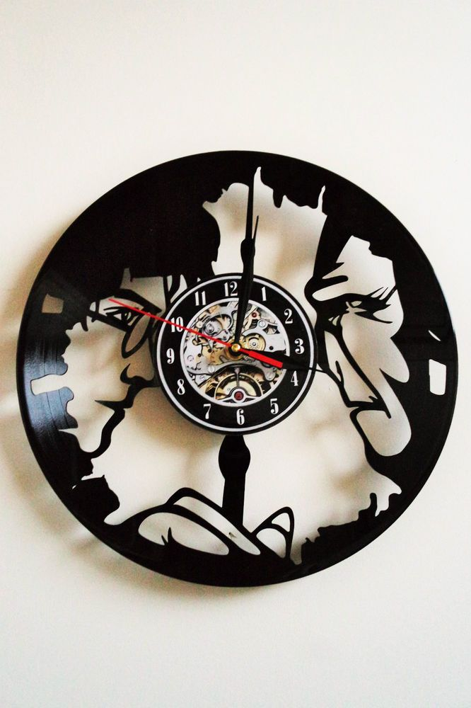 Harry Potter Design vinyl record wall clock