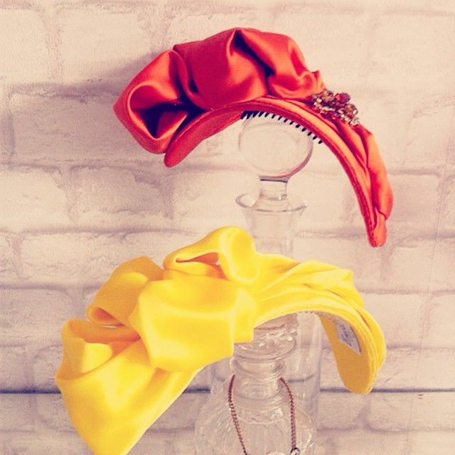 @emilylondonmillinery Newly finished and into the showroom #turban#headbands 2015