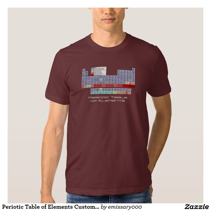 Periotic Table of Elements Customizable Tee