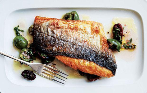 super crispy skinned fish (branzino or black bass) by Donald Link