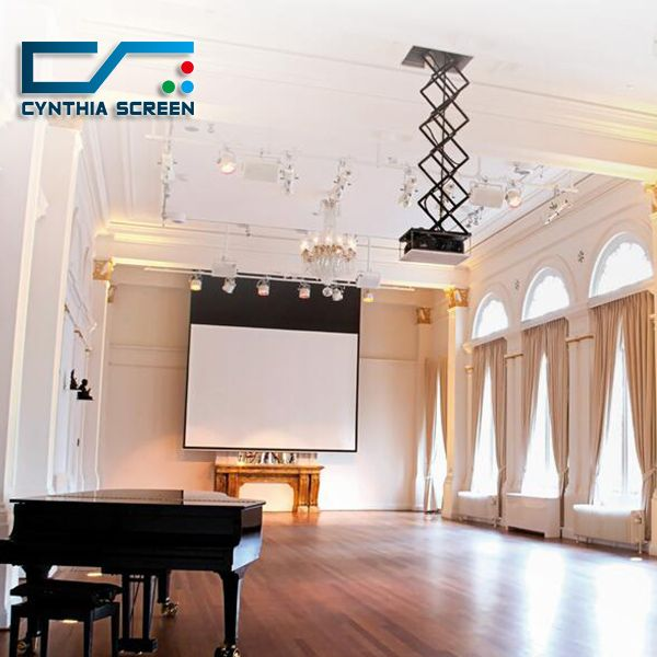 Cynthia Screen Electric Projector Lift With Remote Control Projector Projection Screen Electric Screen