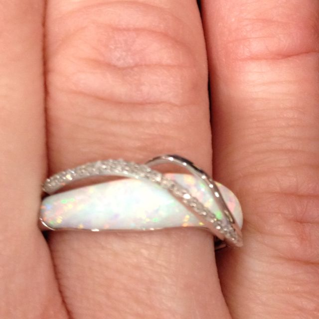 Opal ring. simple design and Absolutely gorgeous.the colors are exquisite
