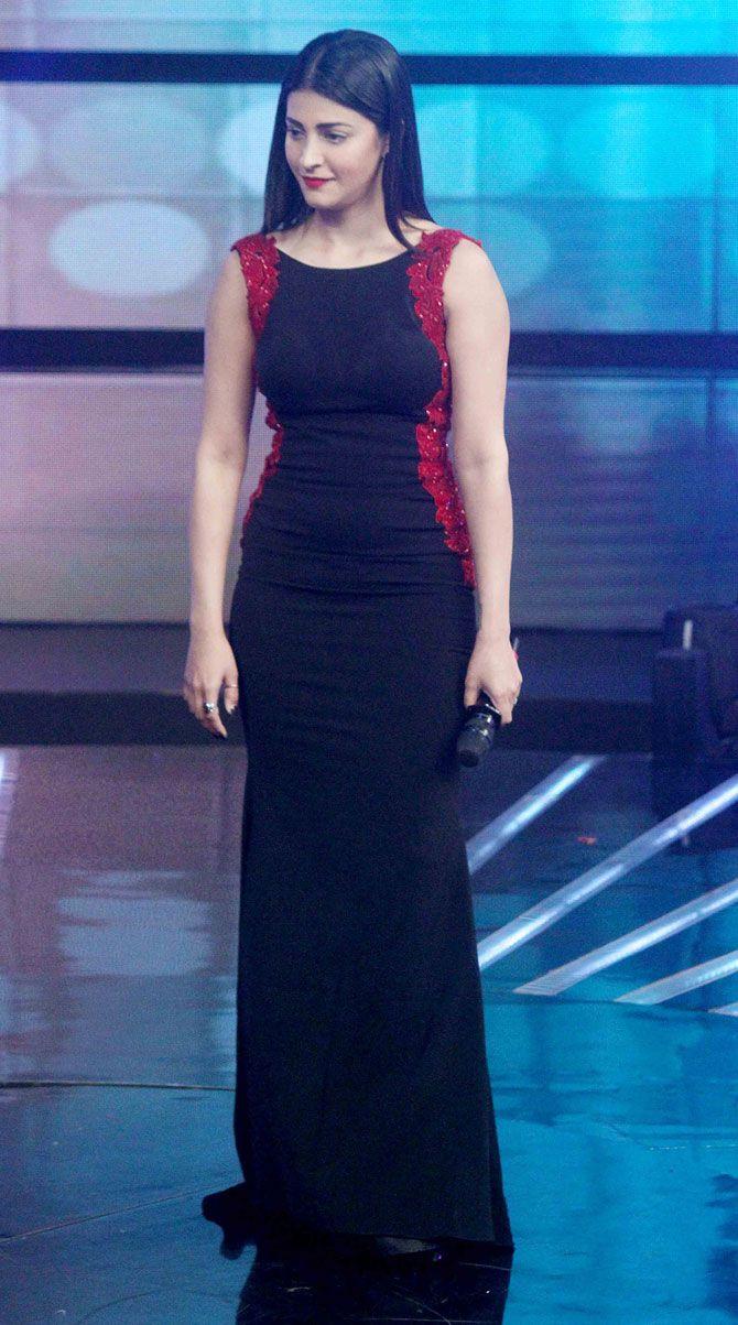 Shruti Haasan on #IndianIdolJunior. #Bollywood #WelcomeBack #Fashion #Style #Beauty #Hot