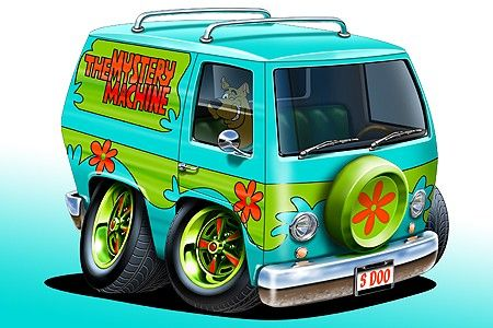 Scooby-Doo-Mystery-Van-Car-toon-Art-Print-NEW