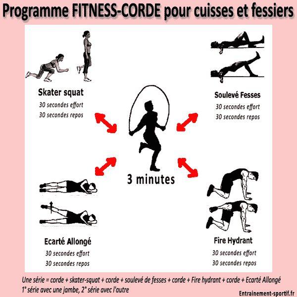 http://goo.gl/n54SII Ce programme Corde à sauter-Exercices de #Fitness, plutôt destiné aux femmes, tonifie les muscles sans les faire grossir.