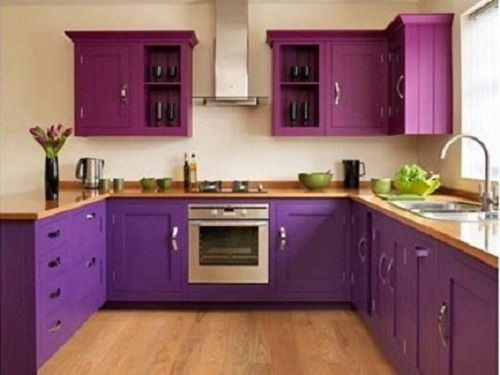 Purple Modular Kitchen Interior For My Purple Passion Pinterest Turquoise Kitchen Colors