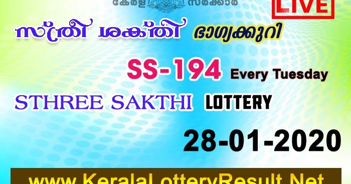 Pin On Sthree Sakthi Lottery Results