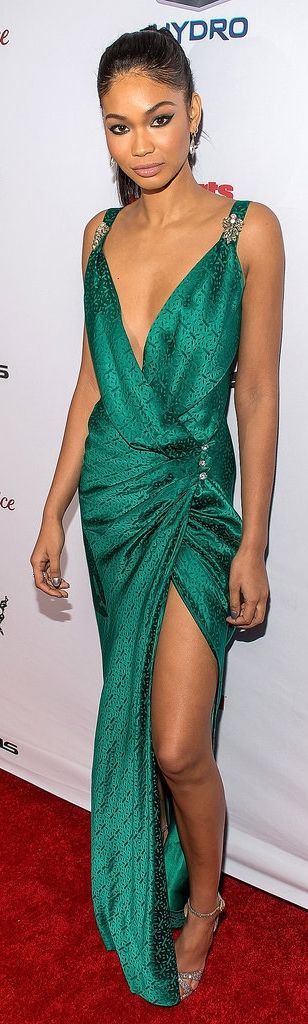 Chanel Iman at the Sports Illustrated Swimsuit Issue Party