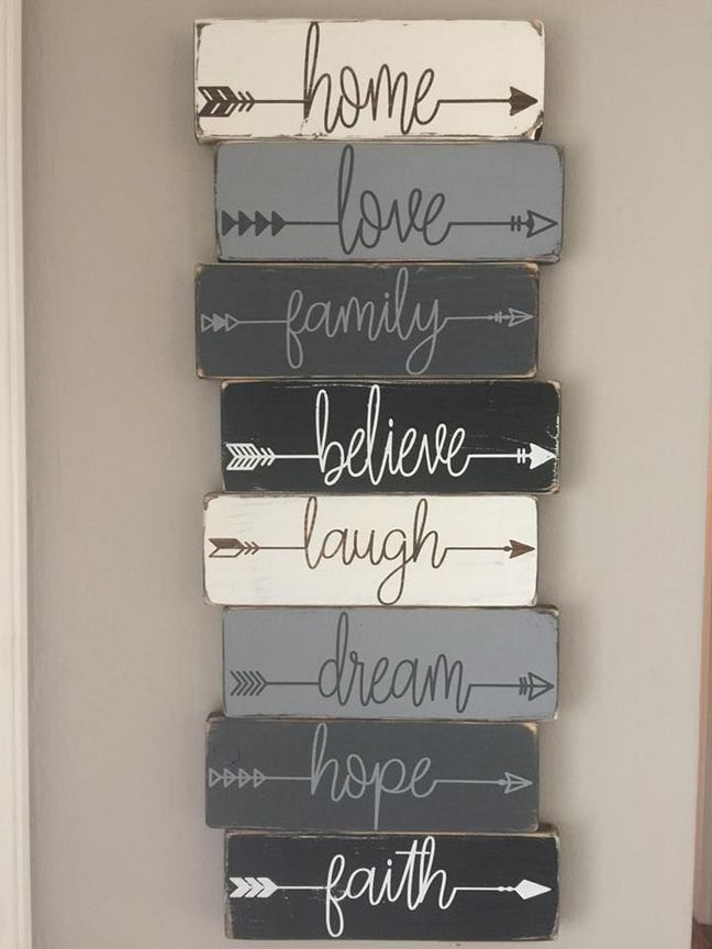 Personalized Wood Arrow word signs ideas for your home 14 – # for # Wood Arrow Word # Ideas #Your #Personalized