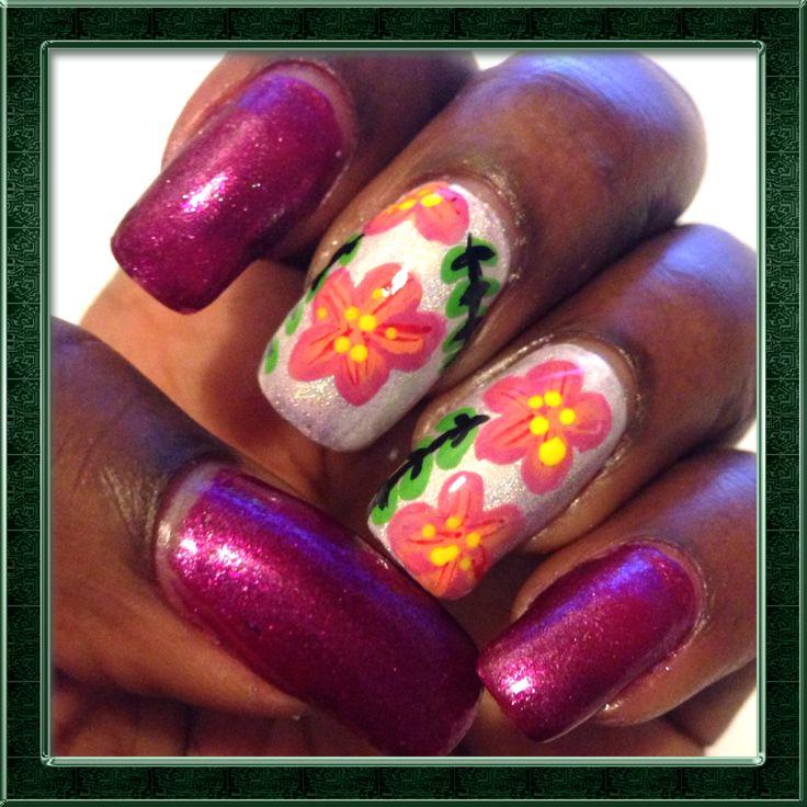 Fleurs Hawaïennes https://www.facebook.com/notes/vernis-nail-art/one-stroke-fleurs-hawa%C3%AFennes/314922468686843