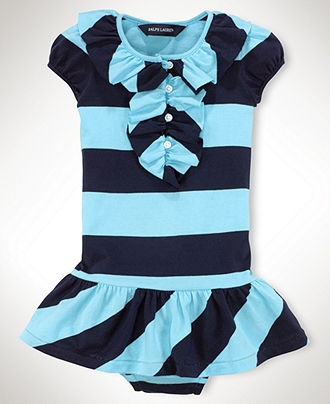 Ralph Lauren Baby Dress, Baby Girls Short Sleeve Rugby Dress - Kids Baby Girl (0-24 months) - Macy's