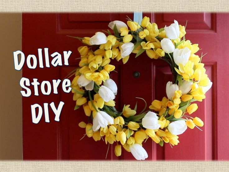 How to make a gorgeous Dollar Store wreath! All of these items can be found at the Dollar Store. I thrifted my wreath form, but they do sell them there as we...